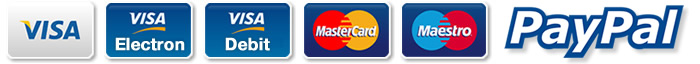 We accept all major credit and debit cards plus cheques